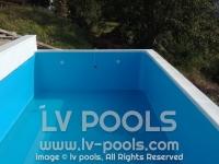 22 PVC Lajner 1,5mm plavi izrada na licu mesta po meri izgradjenosti