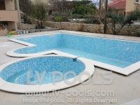 44 Bazen i djakuzi prelivni hidro masaza rubni kamen po meri bazena